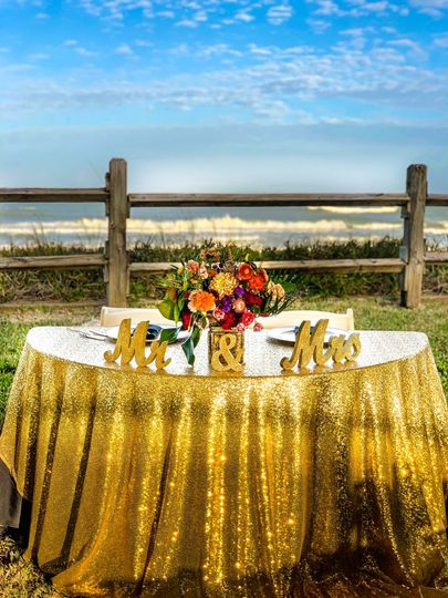 Ocean Front Wedding Reception