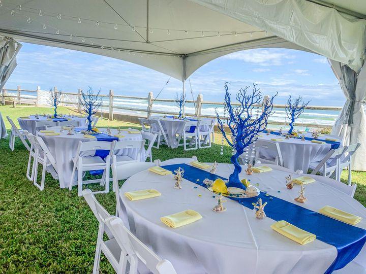 Beachfront Wedding Reception