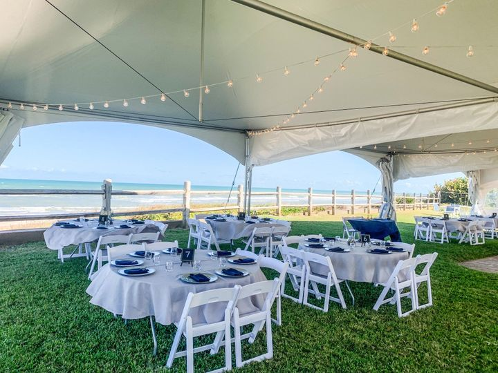 Beachfront Wedding Reception