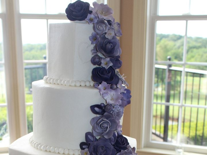 Tmx 1378832408016 Purple Cake Fairfield, Pennsylvania wedding cake