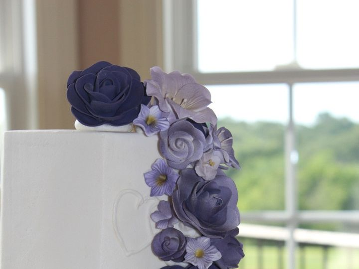 Tmx 1378832423859 Purple Cake2 Fairfield, Pennsylvania wedding cake
