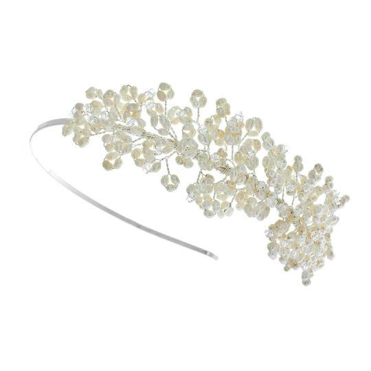 Paula Pearl And Crystal Side Headband