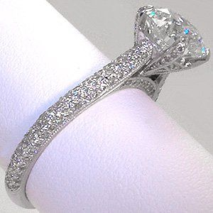 Bridlal Classic Pave diamonds on side and head.