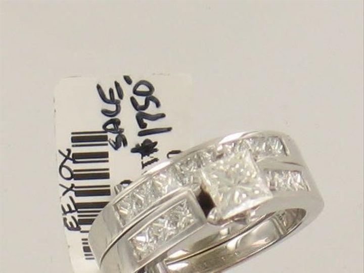 Tmx 1269363311281 Princesscutweddingset Cedar Rapids wedding jewelry