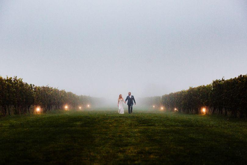 Foggy wedding