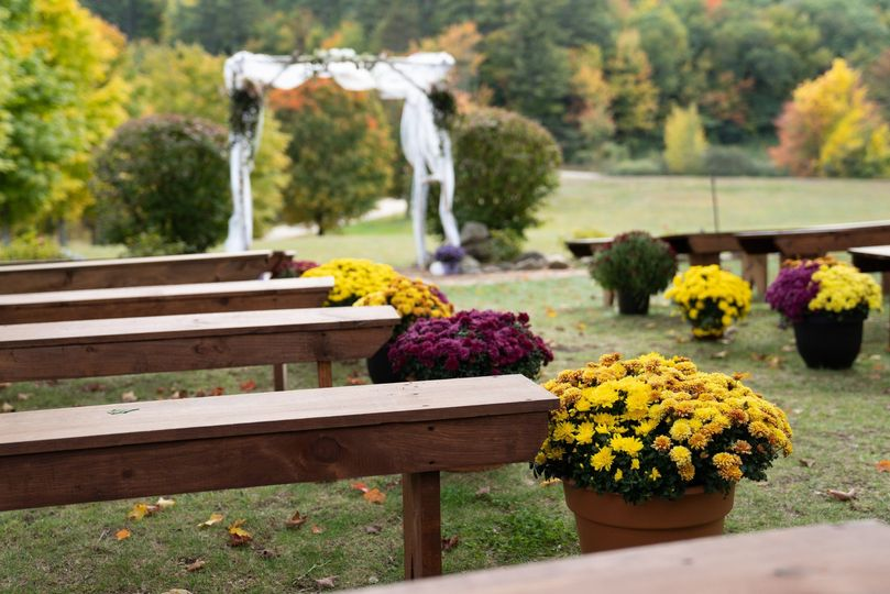 Outdoor ceremony setting