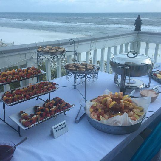 Beachfront Wedding Buffet