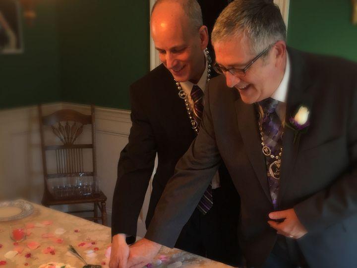 Tmx 1422238010090 Steve Tom Cut Cake Durham, North Carolina wedding officiant