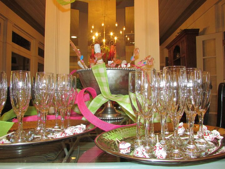 Sparkling champagne glass