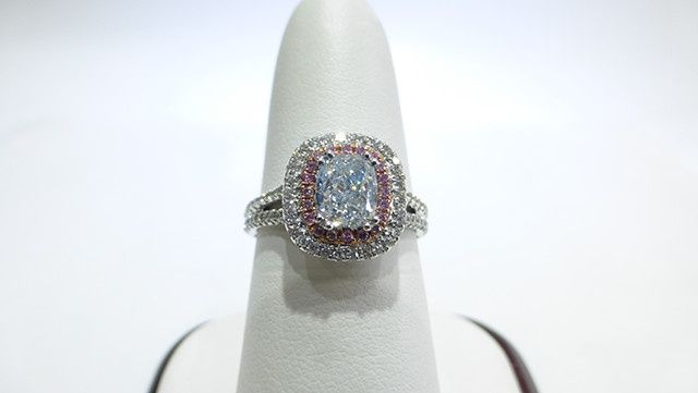 Natural Blue Colored Diamond Ring