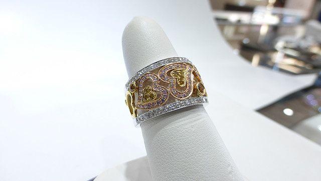 Tri Color Natural Diamond Ring