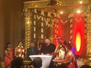 Hindu Ceremony signing license