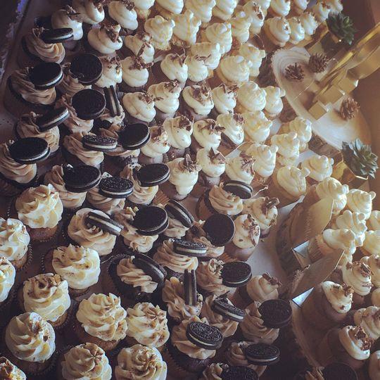 Cupcake set-up