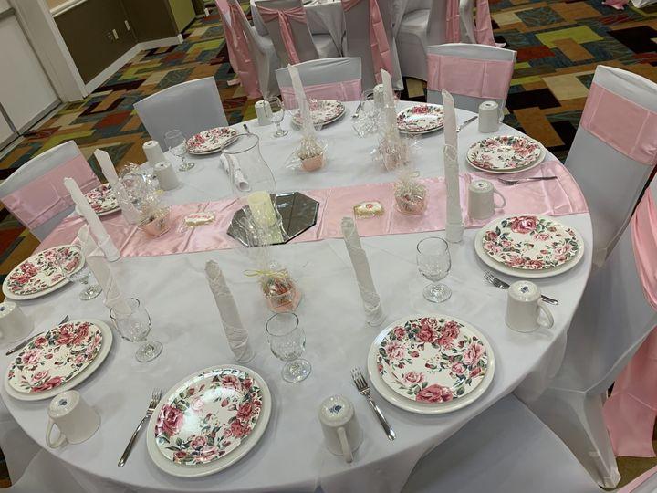 Tasteful pink reception