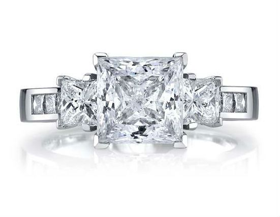 This is a beautiful princess cut engagement rings at Diamond Exchange Dallas in Dallas, TX.  We have...