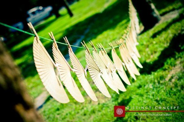 Wedding fan decor