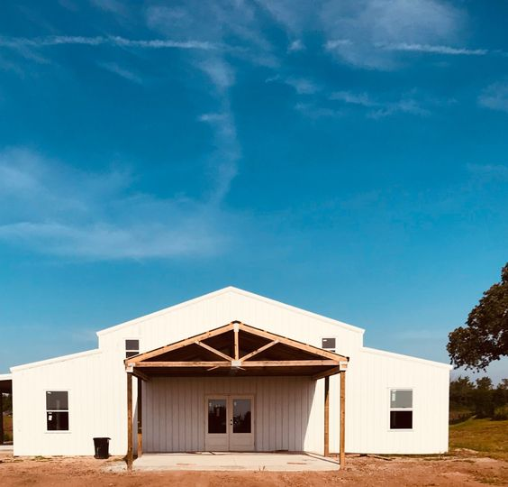 Classic white barn