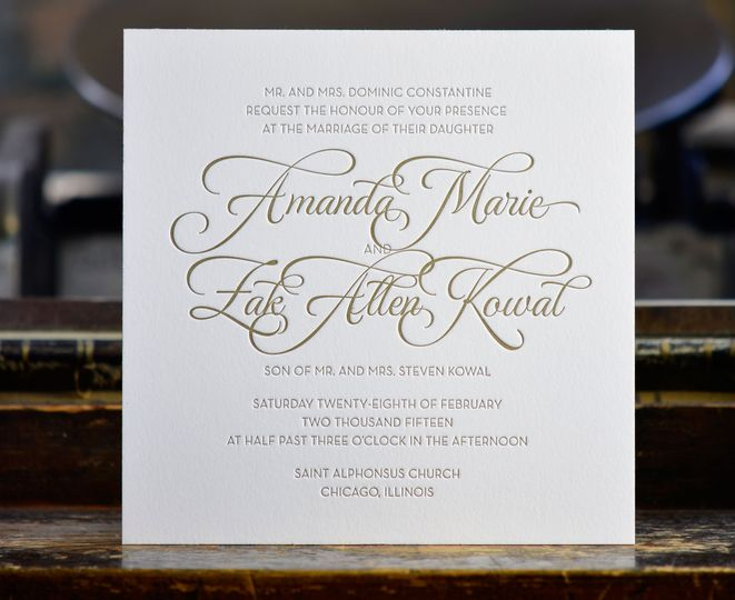 steracle press - invitations - chicago, il - weddingwire, Wedding invitations