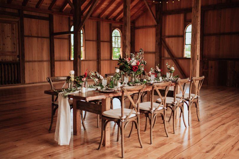 Blossoming banquet setup