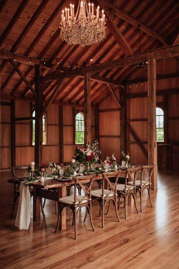 Rustic and elegant barn reception