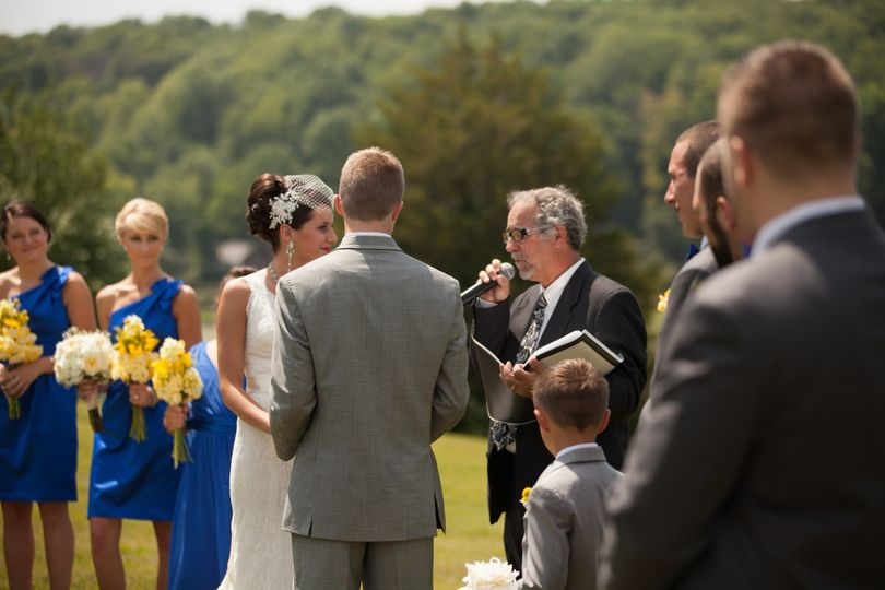 Wedding in the park.