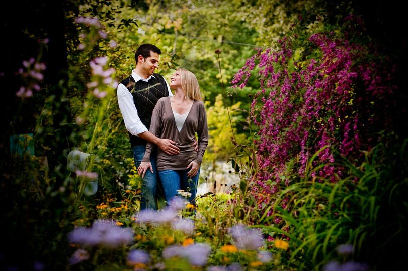Engagement session in a beautiful park setting.