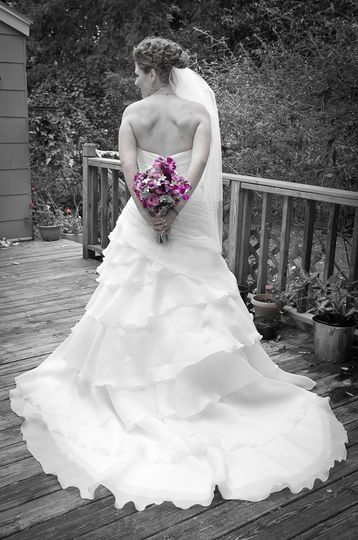 BW, Color, stand the test of time. A different view of the wedding dress.