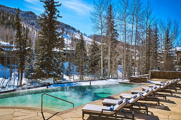 Mountain and Creek Side Infinity Pool
