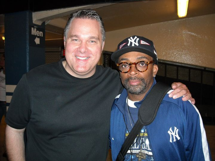 Britt with director Spike Lee in New York City.