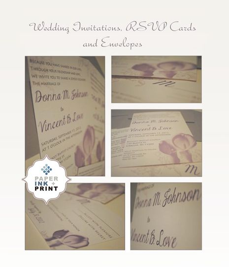 wedding invites paper ink print