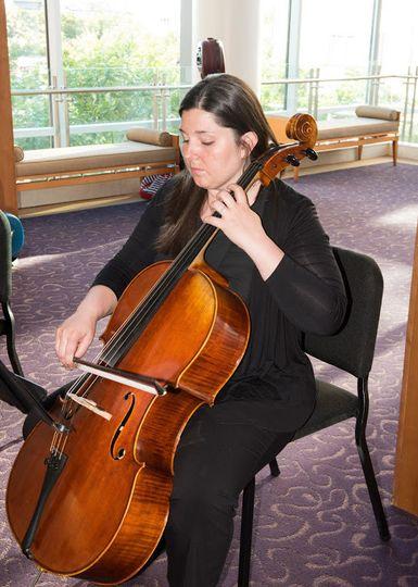 Jessica Tuttobene with cello