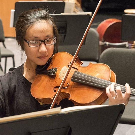 Shirley Smith playing viola