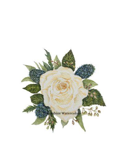 A rose wristlet
