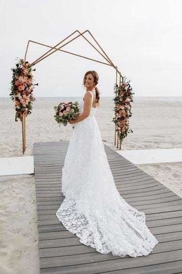Elegant beach wedding