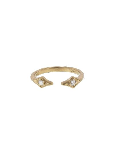 This stacking ring from Cathy Waterman is one of our favorites! The open center, thick hammered band...