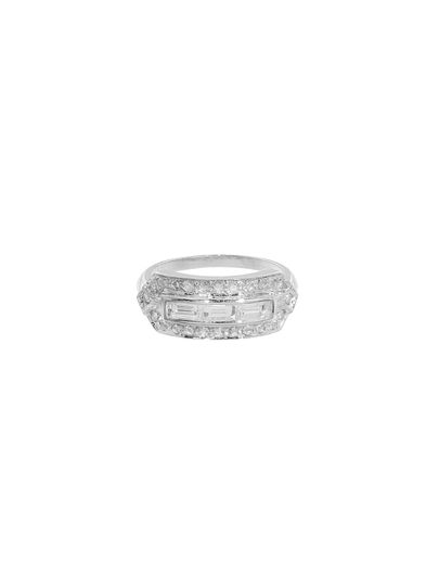 Absolutely stunning from Sethi Couture, this ring is detailed by hand in 18 karat white gold and...