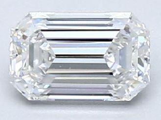 Emerald Diamond 0.37Ct D VVS