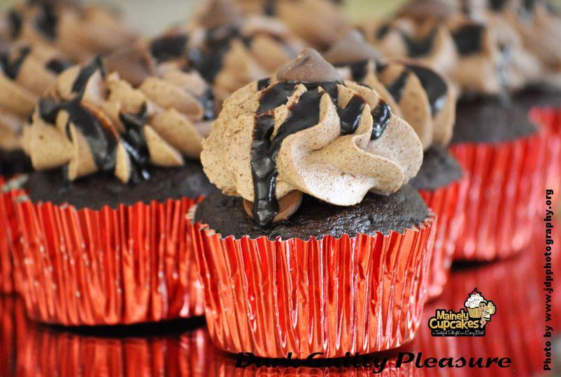 Dark guilty pleasure cupcakes