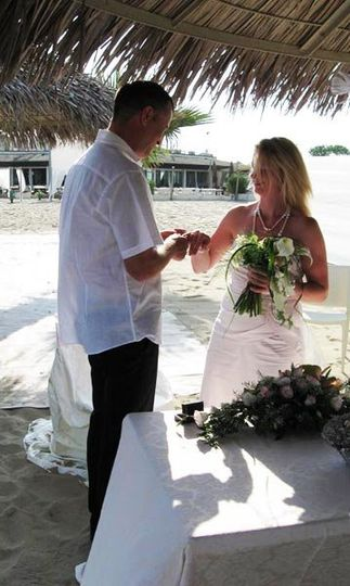 Getting married on a wonderful sandy beach is often a wish of bride and groom.