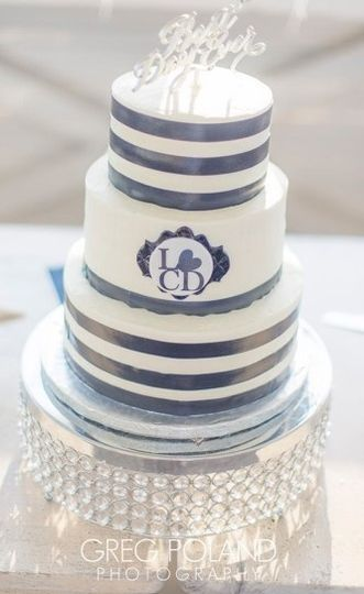 nautical stripe cake