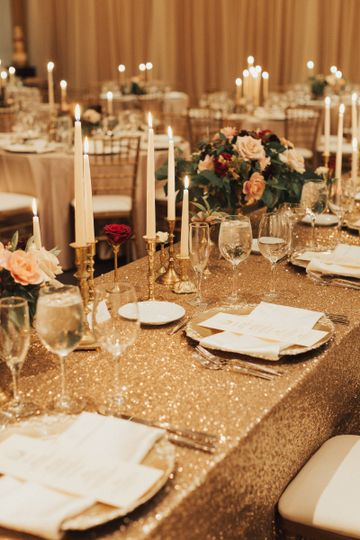 Gold linens