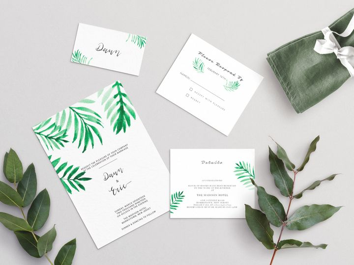 Tmx Palm Leaves Wedding Scene 2 51 1979873 159542149872643 Abingdon, MD wedding invitation