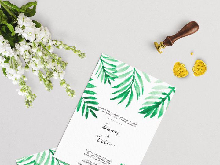 Tmx Palm Leaves Wedding Scene 51 1979873 159542149844840 Abingdon, MD wedding invitation