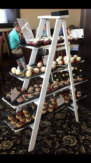 Ladder used for cupcake stand