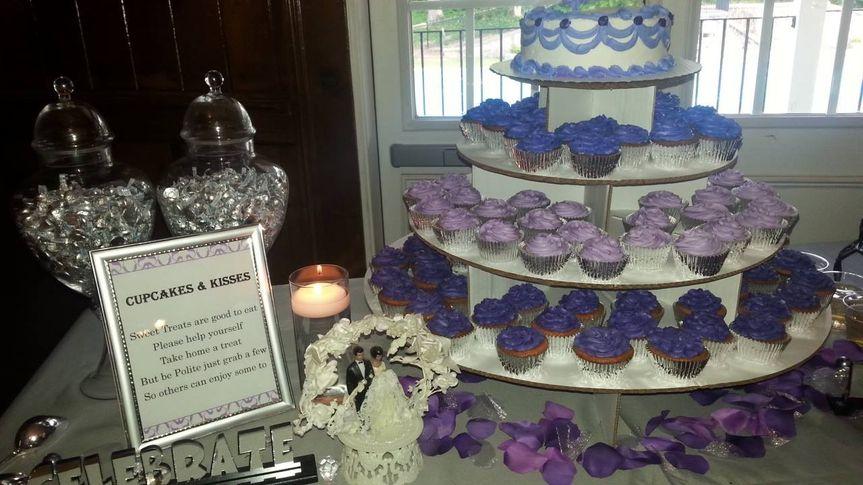 25th Wedding Anniversary cupcake and dessert table.