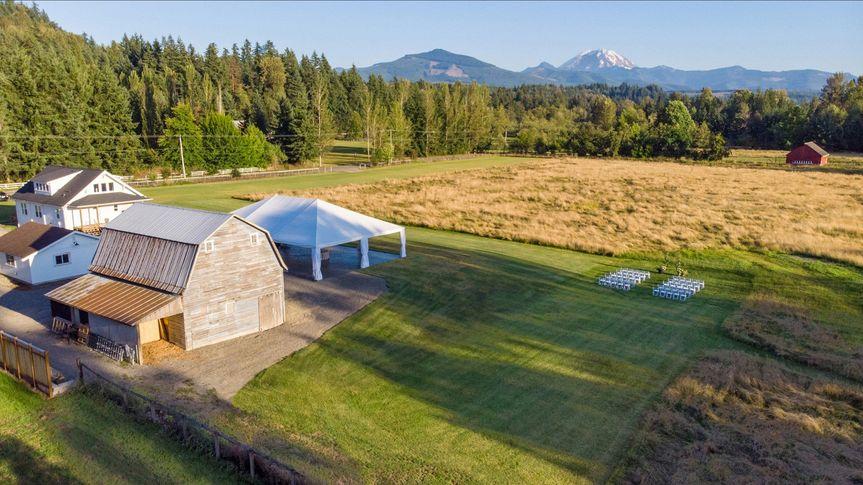 Ceremony area Mount Peak Farm