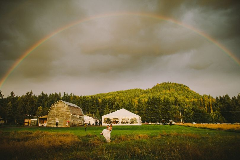 Rainbow over Mount Peak Farm