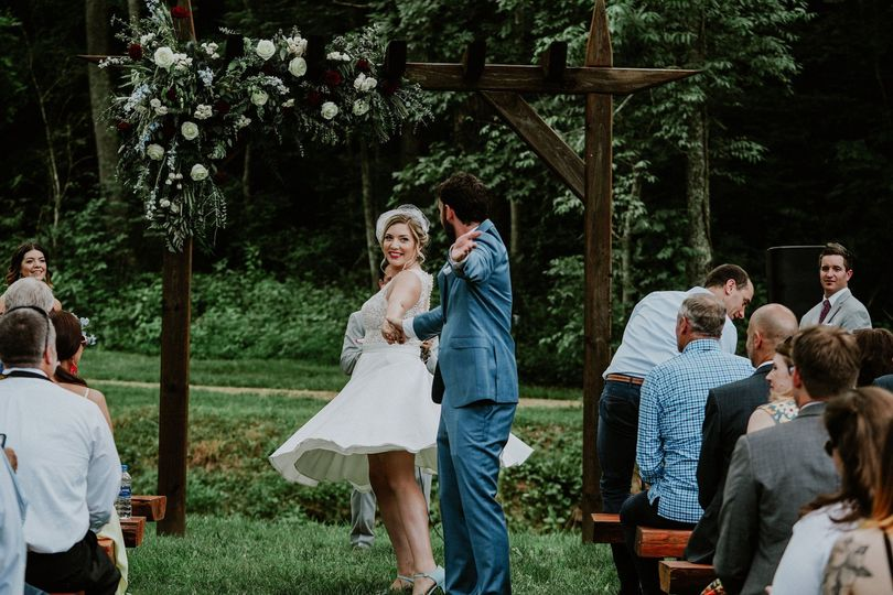 Dancing down the aisle!