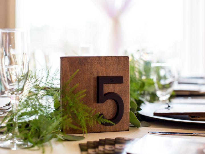 Tmx Table Number Wood 01 51 1042973 Egg Harbor Township, NJ wedding invitation