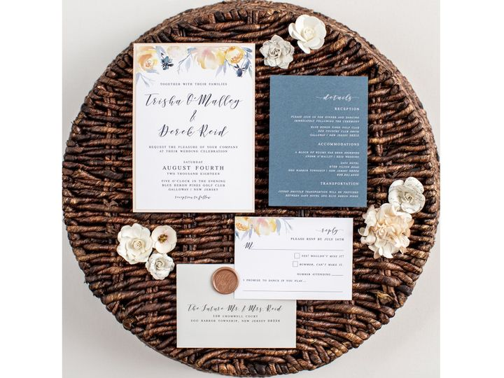 Tmx Trisha Invite 01 51 1042973 Egg Harbor Township, NJ wedding invitation